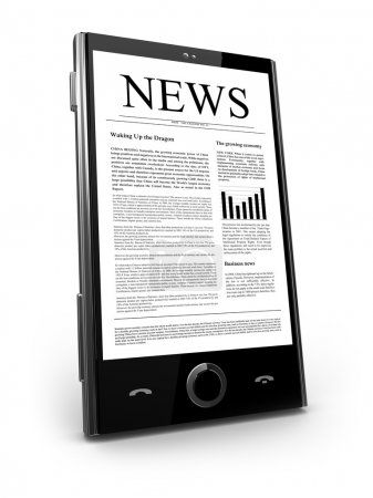 Photo for News - Touch phone - Royalty Free Image