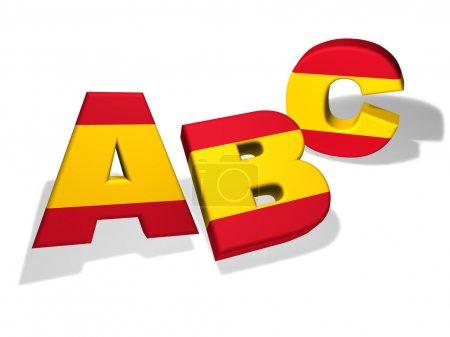 Abc Spanish School Concept