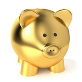 Zlaté prasátko bank úspory koncept
