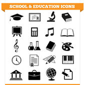 Vector set of school and education icons and design elements for college academy or other educational institution Illustration on white background