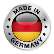 Made in Germany silver badge and icon with central...