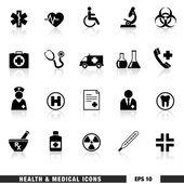 Zdraví a lékařské ikony nastavit