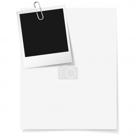 Photo Frame Clipped On Paper