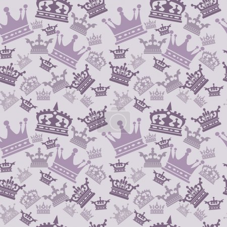 Illustration for Damask decorative wallpaper for walls vintage seamless patterns abstract background - Royalty Free Image