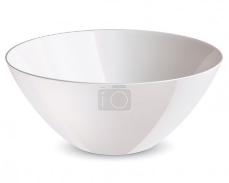 Bowl isolated. Vector illustration...