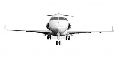 Photo pour Avion jet privé isolé sur fond blanc. Bombardier Global Express - image libre de droit