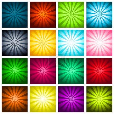 Colorful Bursting Backgrounds