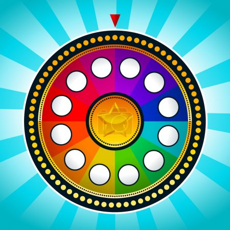 Illustration for Vector illustration of colorful game wheel of fortune. - Royalty Free Image