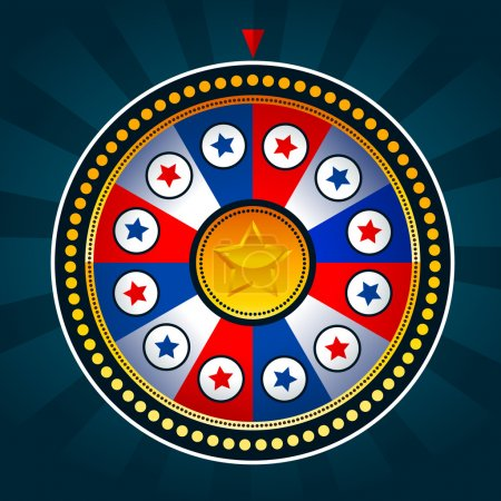 Illustration for Illustration of game wheel with patriotic colors - Royalty Free Image