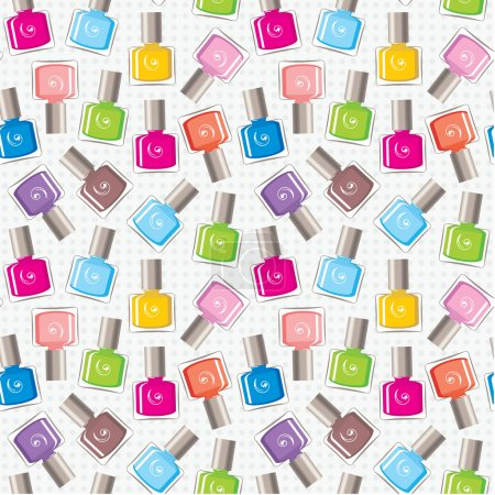Seamless nail polish pattern