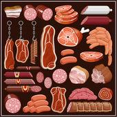 """Постер, картина, фотообои """"набор продуктов из мяса."""""""