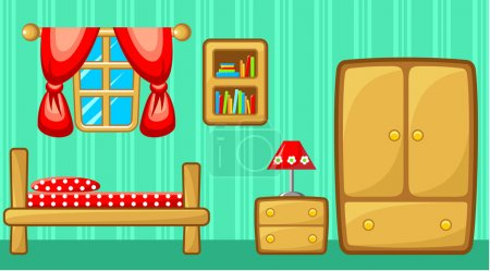 Illustration for Bedroom. Interior. Vector illustration - Royalty Free Image