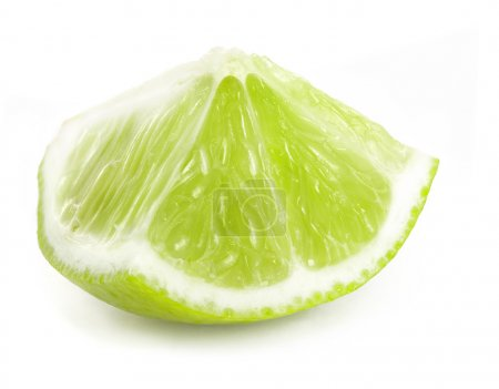 Photo for Fresh lime slice, Isolated on white background - Royalty Free Image