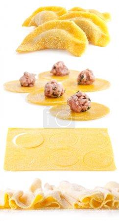 Photo pour Faire des boulettes de viande isolés sur fond blanc - image libre de droit