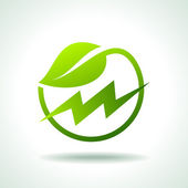 Green energy electricity icon