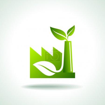 Illustration pour Eco icône de l'énergie, vecteur - image libre de droit