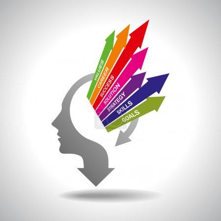 Illustration for Business mind concept - Royalty Free Image