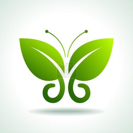 Green butterflies