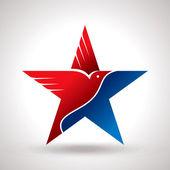 American flag and eagle symbol