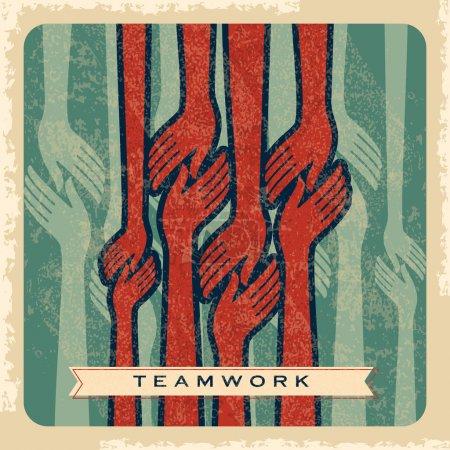 Vintage teamwork concept
