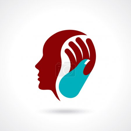 Illustration for Human head thinking a new idea - Royalty Free Image