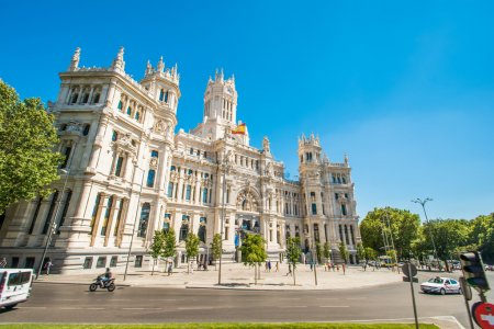 Photo pour Plaza de la cibeles à madrid, Espagne - image libre de droit