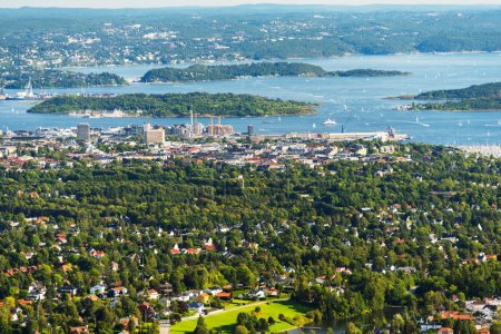 Panorama view of Oslo Norway