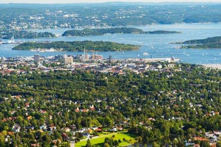 Panorama view of Oslo