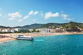 Panorama view on beach near Tossa de Mar Catalonia Spain