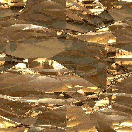 Photo pour Illustration de papier aluminium sans soudure fond d'or métallisé - image libre de droit