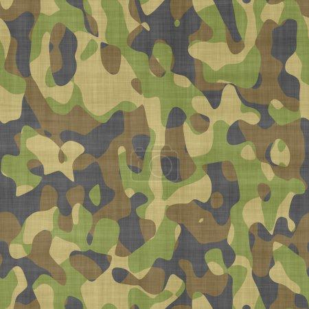 Foto de Patrón de camuflaje inconsútil en tela - Imagen libre de derechos
