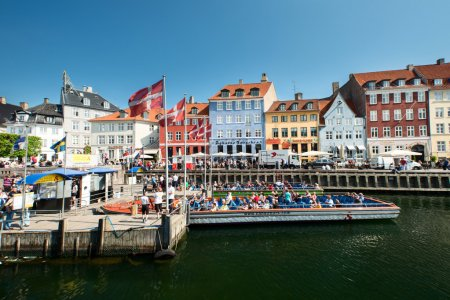 Nyhavn in Copenhagen at Spring