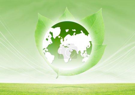 Photo pour Sauver la Terre Concept Contexte - image libre de droit