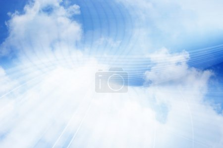 Photo for Cloud Computing Background Concept - Royalty Free Image