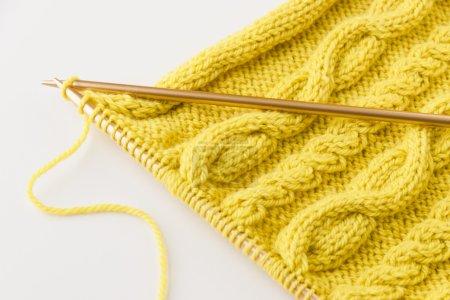 Knitting wool and knitting needles