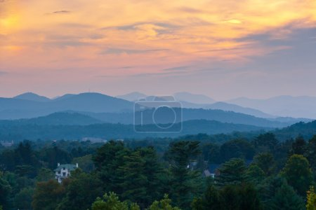 Sunset at the mountains landscape