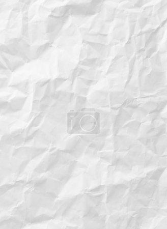 Photo pour Texture de papier froissé blanc pour le fond - image libre de droit
