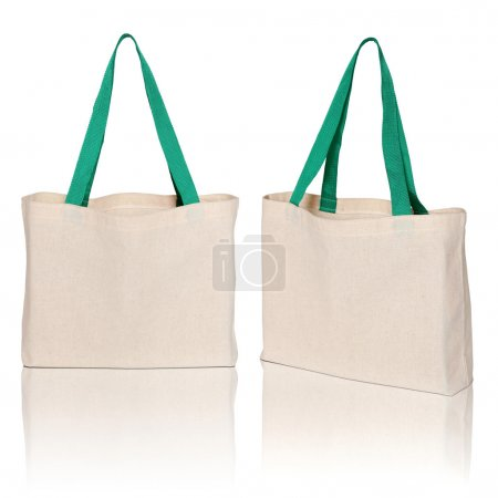 Fabric bag on white background