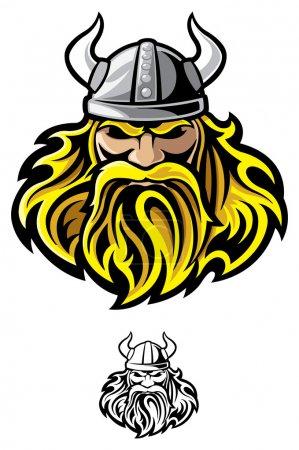 Illustration pour Mascotte viking - image libre de droit