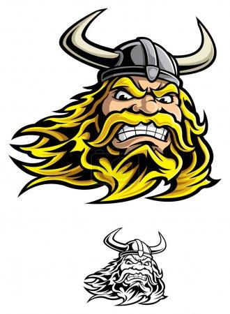 Illustration pour Guerrier viking - image libre de droit