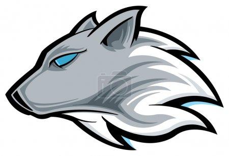 Illustration pour Loup de bois - image libre de droit