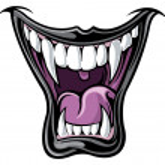 Vampire teeth...