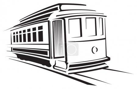Illustration pour Voiture de chariot - image libre de droit