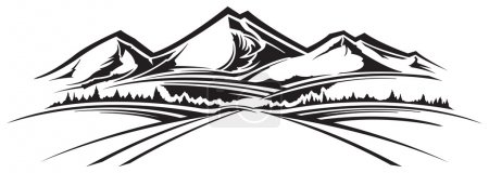 Illustration pour Paysage de montagne - image libre de droit