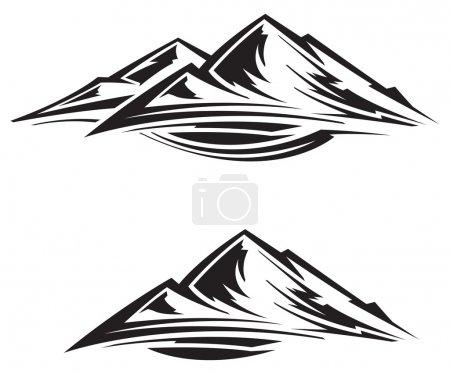 Illustration pour Gamme de montagne - image libre de droit