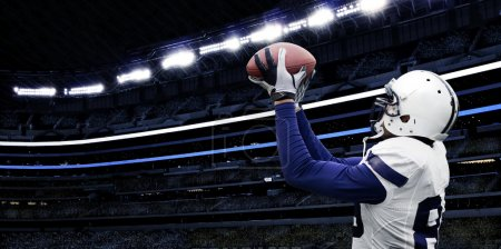 American football touchdown catch