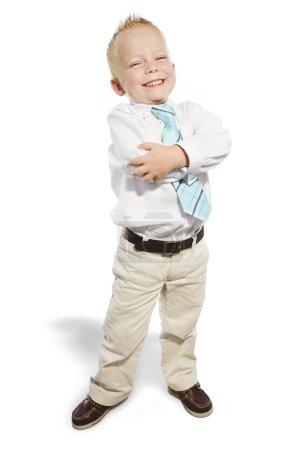 Smiling Little Businessman