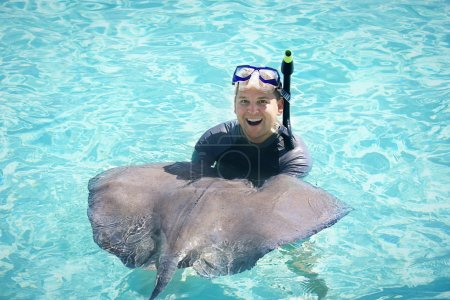 Fun Swimming with the Stingrays
