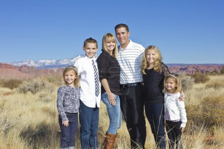 Photo for Outdoor Family Portrait - Royalty Free Image
