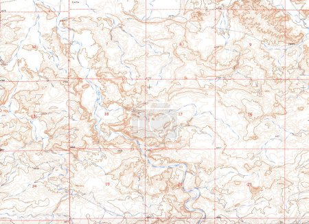 Photo for Old Topographical Map (Expedition background ) - Royalty Free Image